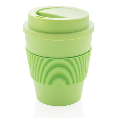 Picture of REUSABLE COFFEE CUP with Screw Lid 350ml in Green