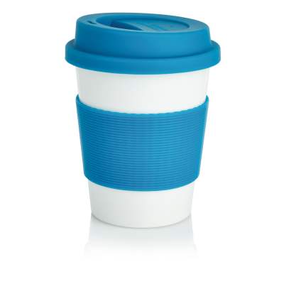 Almega Promotional Gifts. ECO PLA COFFEE CUP in Blue