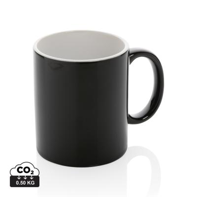 Picture of CERAMIC POTTERY CLASSIC MUG in Black & White