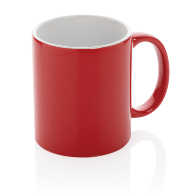 Picture of CERAMIC POTTERY CLASSIC MUG in Red