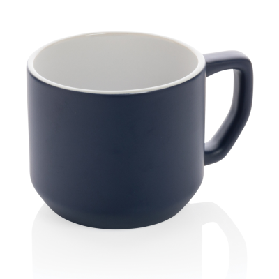 Picture of CERAMIC POTTERY MODERN MUG in Navy