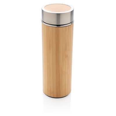 Picture of LEAK PROOF BAMBOO VACUUM BOTTLE in Brown