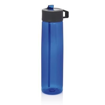 Picture of TRITAN BOTTLE with Straw in Blue & Grey