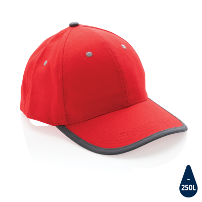 Picture of IMPACT AWARE™ BRUSHED RCOTTON 6 PANEL CONTRAST CAP 280G in Red