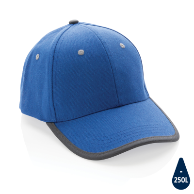 Picture of IMPACT AWARE™ BRUSHED RCOTTON 6 PANEL CONTRAST CAP 280G in Blue