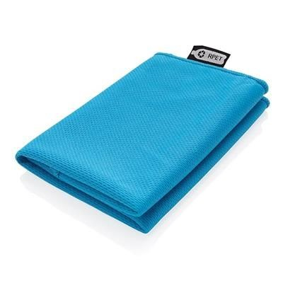 Picture of RPET SPORTS TOWEL in Pouch in Blue