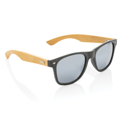 Picture of WHEAT STRAW AND BAMBOO SUNGLASSES in Black