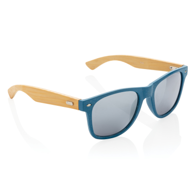 Picture of WHEAT STRAW AND BAMBOO SUNGLASSES in Blue
