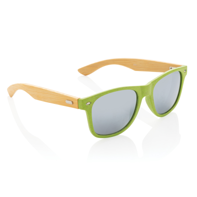 Picture of WHEAT STRAW AND BAMBOO SUNGLASSES in Green