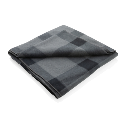 Picture of SOFT PLAID FLEECE BLANKET in Anthracite Grey