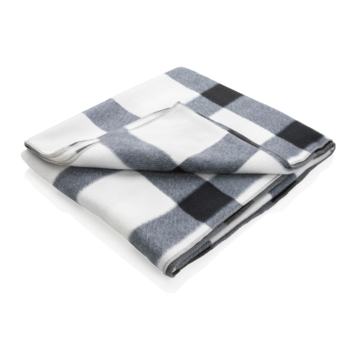 Picture of SOFT PLAID FLEECE BLANKET in White