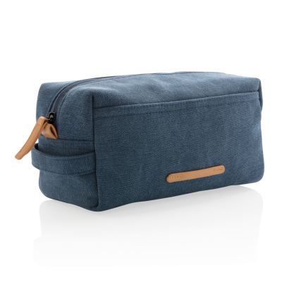 Picture of CANVAS TOILETRY BAG PVC FREE in Blue