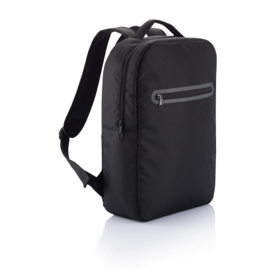 Picture of LONDON LAPTOP BACKPACK RUCKSACK PVC FREE in Black