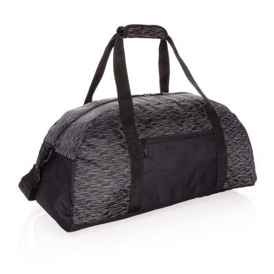 Picture of AWARE™ RPET REFLECTIVE WEEKEND BAG in Black