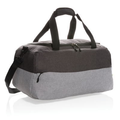 Picture of DUO COLOR RPET RFID WEEKEND BAG PVC FREE in Grey