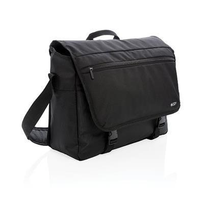 Picture of SWISS PEAK RFID 15 INCH LAPTOP MESSENGER BAG PVC FREE in Black