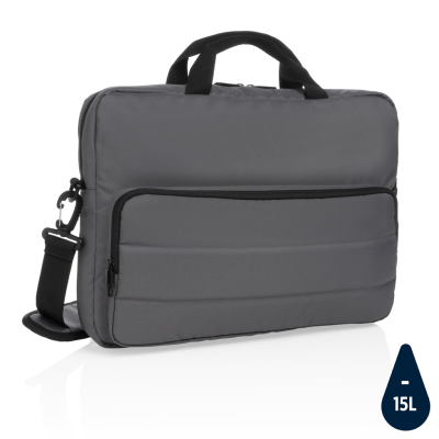 Picture of IMPACT AWARE™ RPET 15,6 INCH LAPTOP BAG in Anthracite Grey