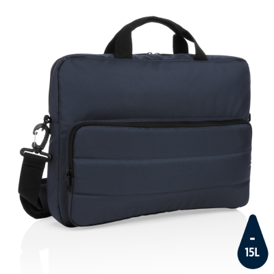 Picture of IMPACT AWARE™ RPET 15,6 INCH LAPTOP BAG in Navy Blue
