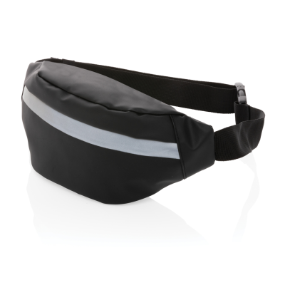 Picture of PU HIGH VISIBILITY BUMBAG in Black