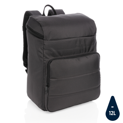Picture of IMPACT AWARE™ RPET COOLER BACKPACK RUCKSACK in Black