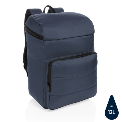 Picture of IMPACT AWARE™ RPET COOLER BACKPACK RUCKSACK in in Black & Navy
