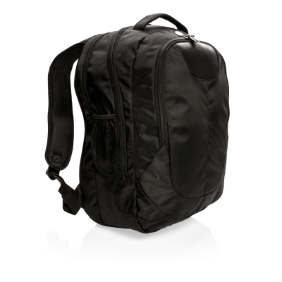 Picture of SWISS PEAK OUTDOOR LAPTOP BACKPACK RUCKSACK in Black