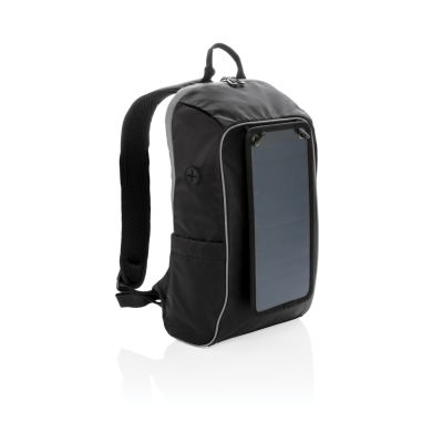 Picture of SOLAR PANEL POWER HIKING BACKPACK RUCKSACK PVC FREE in Black