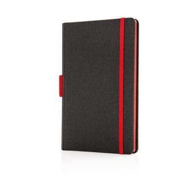 Picture of DELUXE A5 NOTE BOOK with Pen Holder in Red