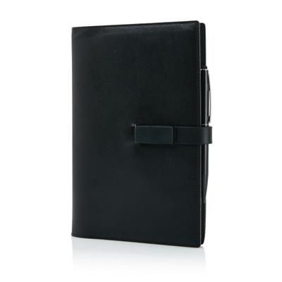 Picture of EXECUTIVE 8GB USB NOTE BOOK SET with Touch Pen in Black