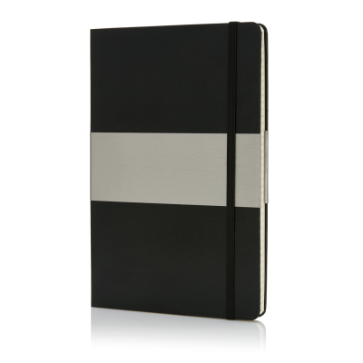 Picture of A5 SQUARED HARDCOVER NOTE BOOK in Black