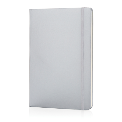 Picture of CLASSIC HARDCOVER NOTE BOOK A5 in Silver