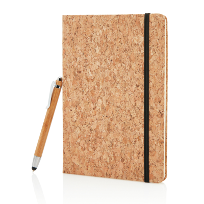 Picture of A5 NOTE BOOK with Bamboo Pen Including Stylus in Brown