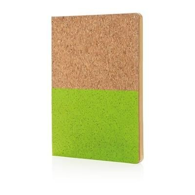 Picture of ECO CORK NOTE BOOK in Green