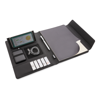 Picture of FIKO CORDLESS CHARGER PORTFOLIO A4 with Powerbank in Black