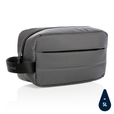 Picture of IMPACT AWARE™ RPET TOILETRY BAG in Anthracite Grey