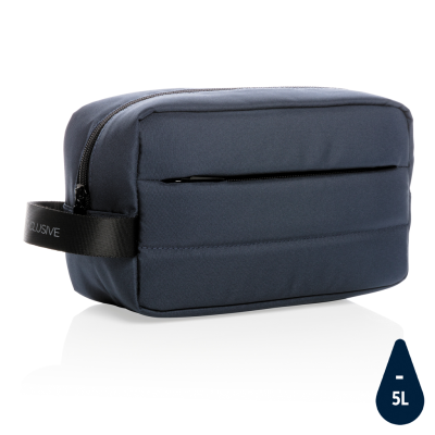 Picture of IMPACT AWARE™ RPET TOILETRY BAG in Navy Blue