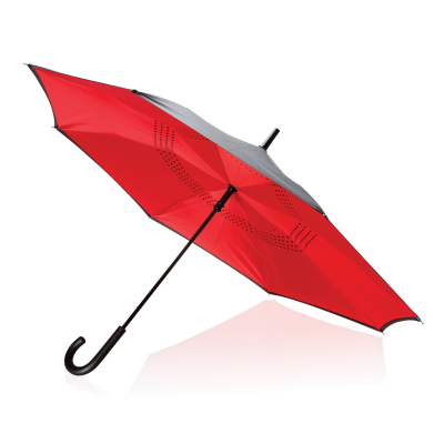 Picture of 23 INCH MANUAL REVERSIBLE UMBRELLA in Red