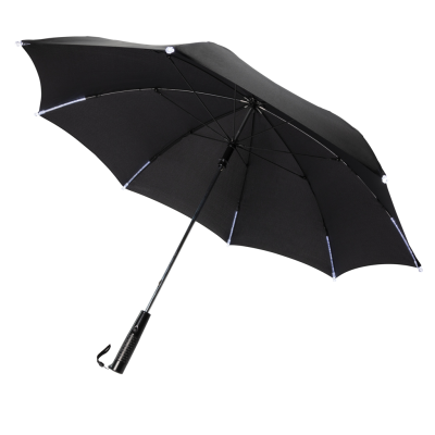 Picture of 23 INCH MANUAL OPEN & CLOSE LED UMBRELLA in Black