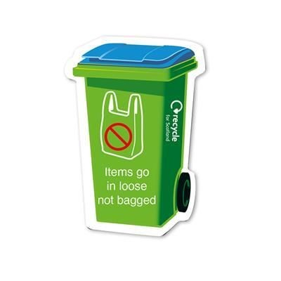 Picture of STANDARD SHAPE FRIDGE MAGNET - WHEELIE BIN