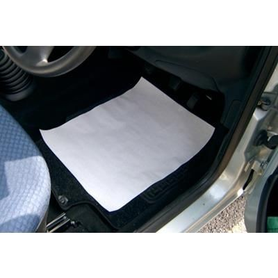 Picture of WHITE DISPOSABLE PAPER CAR MAT