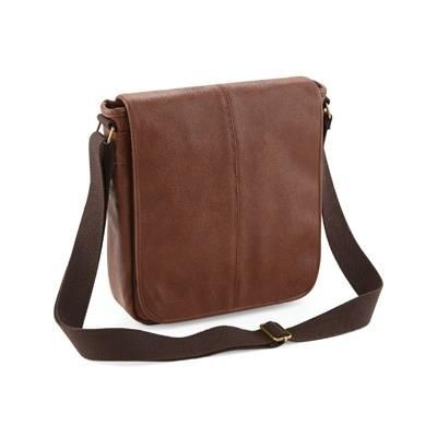Picture of LEATHER-LOOK MESSENGER BAG