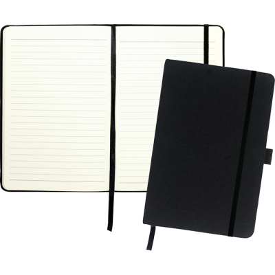 Picture of DOWNSWOOD A5 COTTON NOTE BOOK in Black
