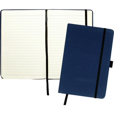 Picture of DOWNSWOOD A5 COTTON NOTE BOOK in Navy Blue