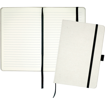 Picture of DOWNSWOOD A5 COTTON NOTE BOOK in Natural