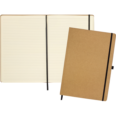 Picture of FOLKESTONE A4 ECO RECYCLED KRAFT PAPER NOTEBOOK