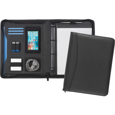 Picture of PEMBURY 4 RING ZIPFOLIO in Black