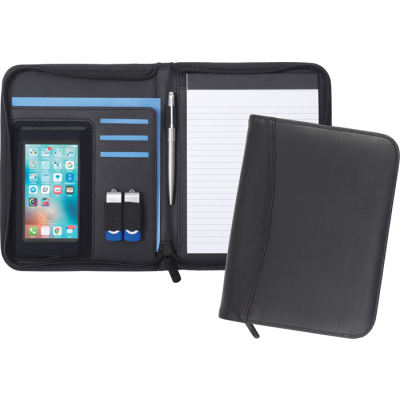 Picture of PEMBURY A5 ZIPPED CONFERENCE FOLDER in Black