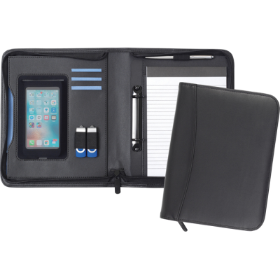 Picture of PEMBURY A5 2 RING ZIPFOLIO in Black