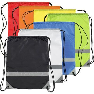 Picture of KNOCKHOLT REFLECTIVE HIGH VISIBILITY DRAWSTRING BACKPACK RUCKSACK