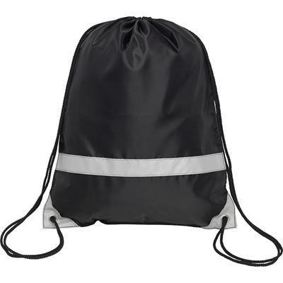 Picture of KNOCKHOLT REFLECTIVE HIGH VISIBILITY DRAWSTRING BACKPACK RUCKSACK in Black